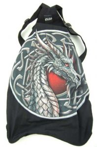 Hippy Bag~Pagan Hippy Celtic Dragon Backpack~Fair trade by Folio Gothic Hippy 95111
